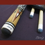 Boriz Billiards Snake Skin Grip Pool Cue Stick Original Inlay Artwork 011
