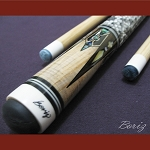 Boriz Billiards Snake Skin Grip Pool Cue Stick Original Inlay Artwork 022