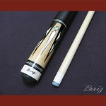 Boriz Billiards Black Leather Grip Pool Cue Stick Original Inlay Artwork 023