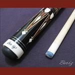 Boriz Billiards Laminated Snake Skin Grip Pool Cue Stick Original Inlay Artwork 025