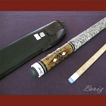 Boriz Billiards Snake Skin Grip Pool Cue Stick Original Inlay Artwork 041