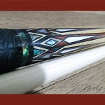 Boriz Billiards Black Leather Grip Pool Cue Stick Majestic Series
