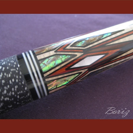 Boriz Billiards Linen Grip Pool Cue Stick Original Inlay Artwork 046 a9a1a0d2a