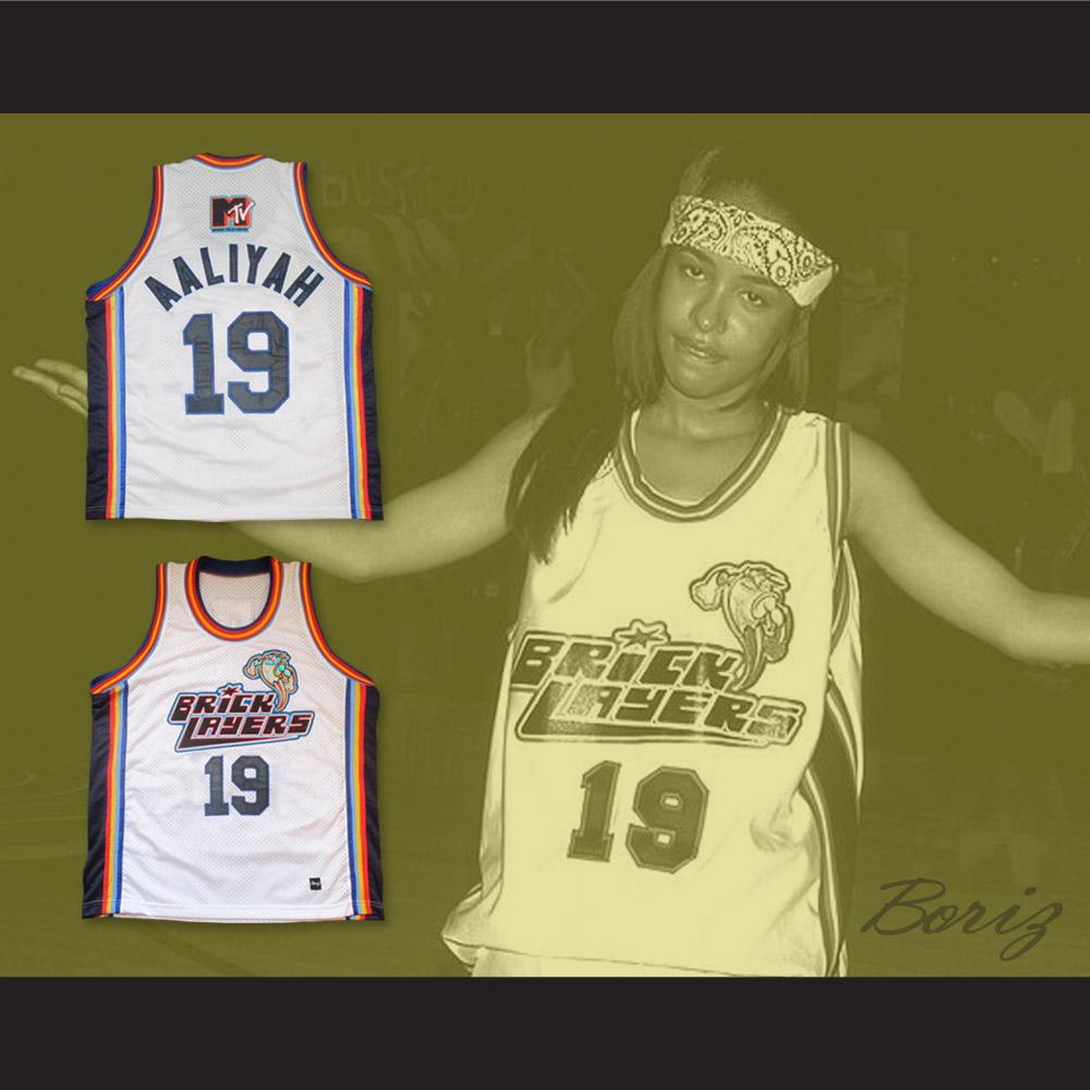 Aaliyah 19 Bricklayers Basketball Jersey Sixth Annual Rock N  Jock B ... 76fb2d55f