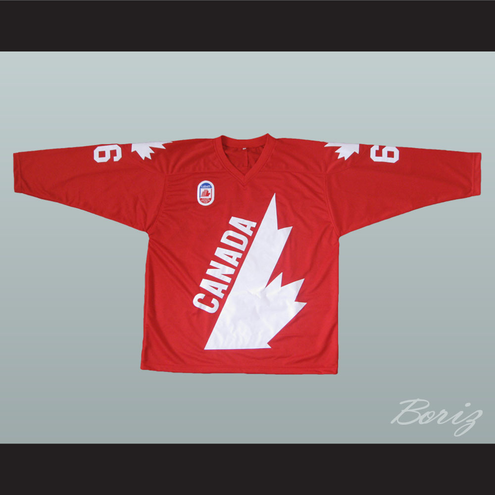 big sale 94a27 09186 Mario Lemieux 66 Canada Cup Hockey Jersey Red