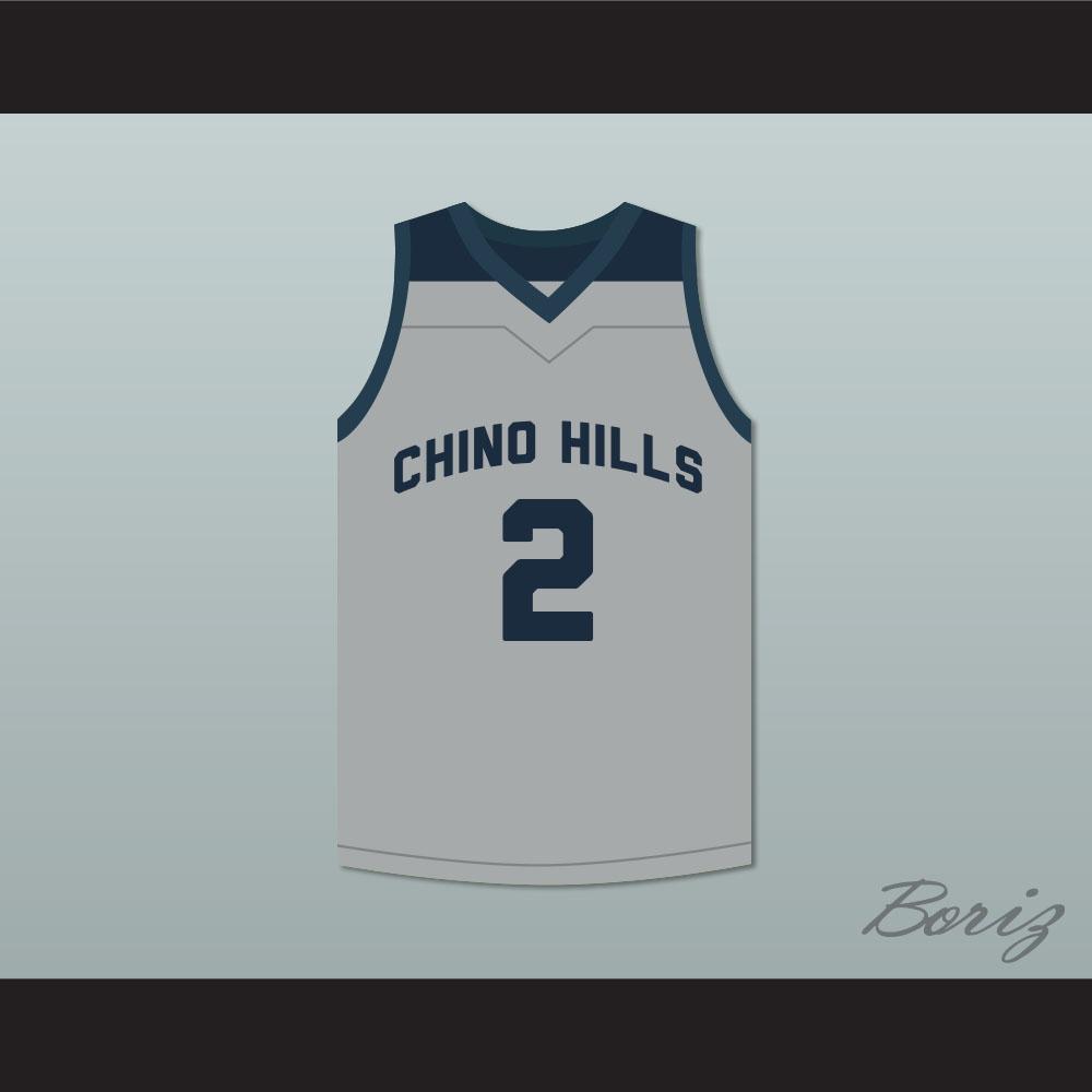 4854ff9579c Lonzo Ball 2 Chino Hills Huskies Gray Basketball Jersey