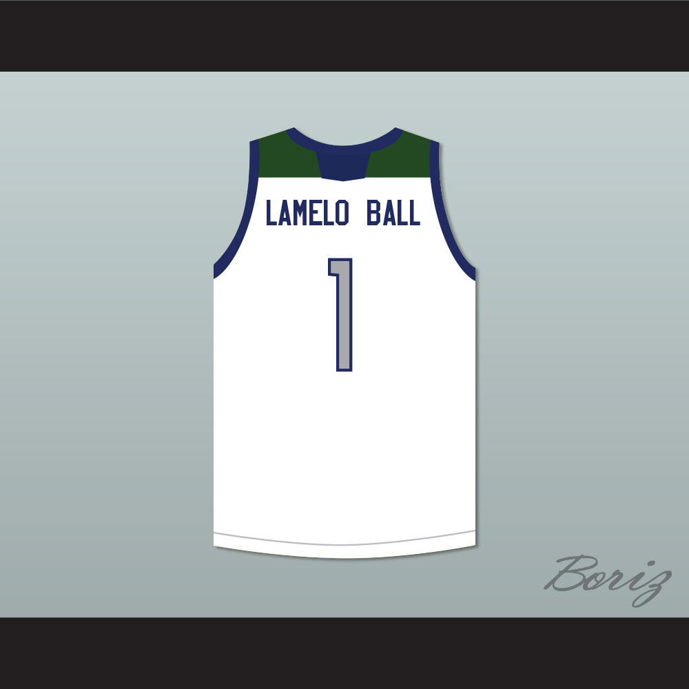 65012e1c90d LaMelo Ball 1 Chino Hills Huskies White Basketball Jersey with Patch