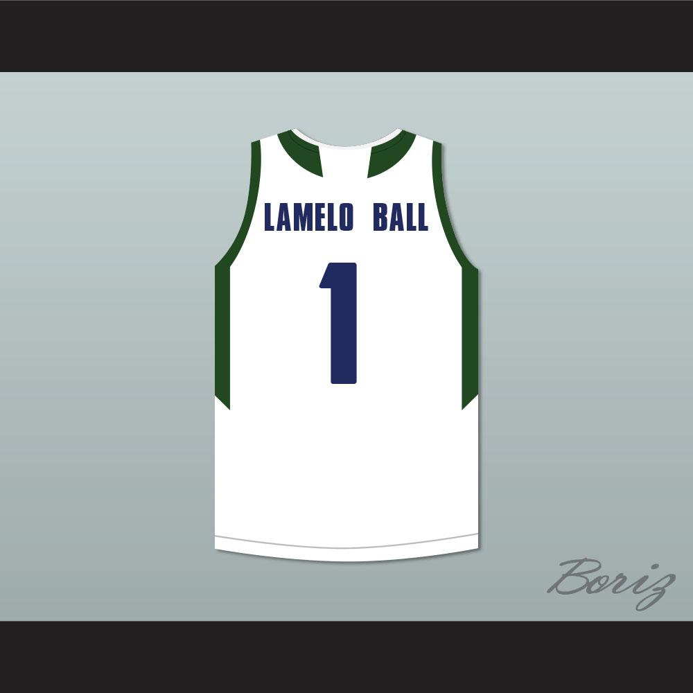 aa80a7d5b2e LaMelo Ball 1 Chino Hills Huskies White Basketball Jersey 2