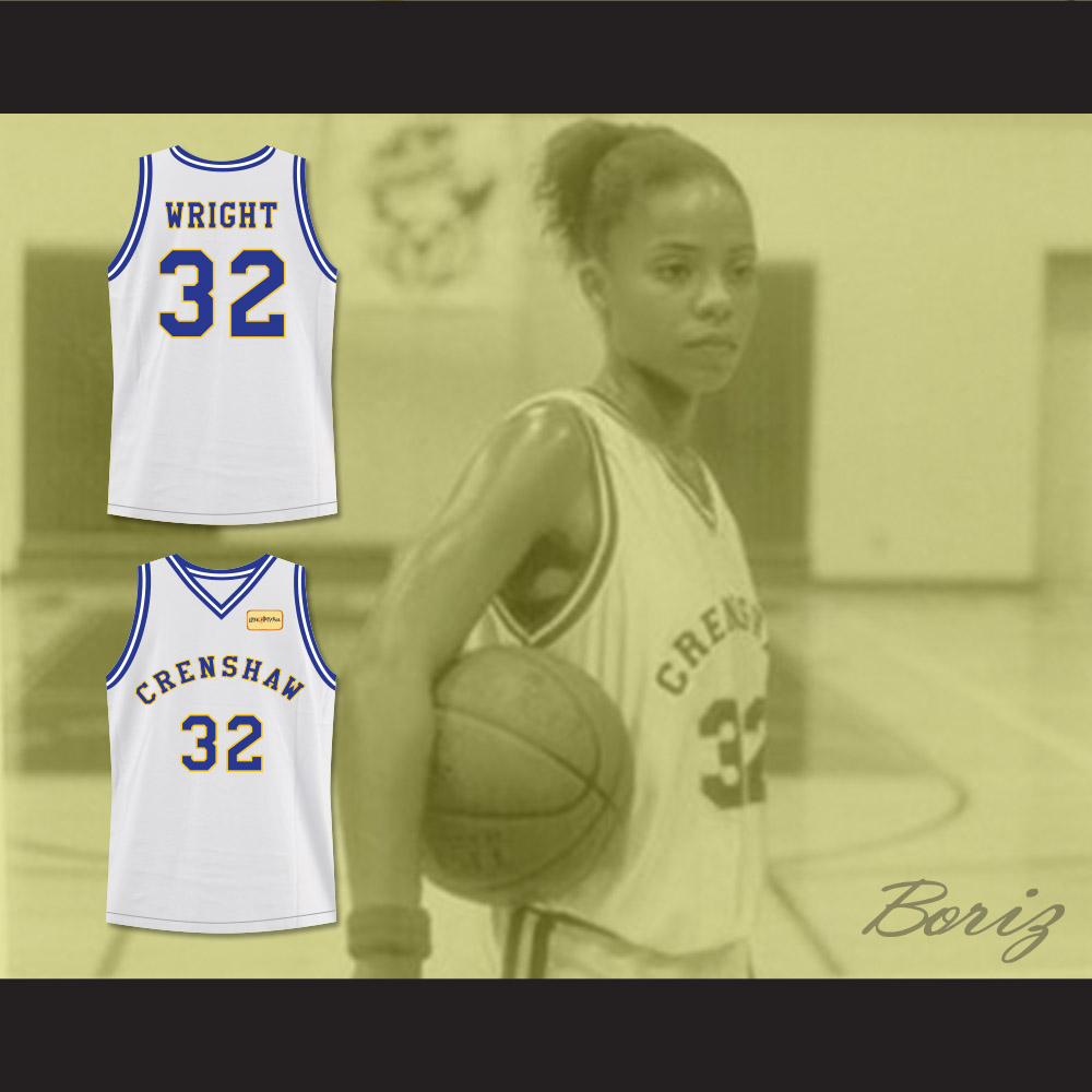 6a5c0ab40b72 crenshaw love and baskeball 32 monica wright white stitched movie jersey