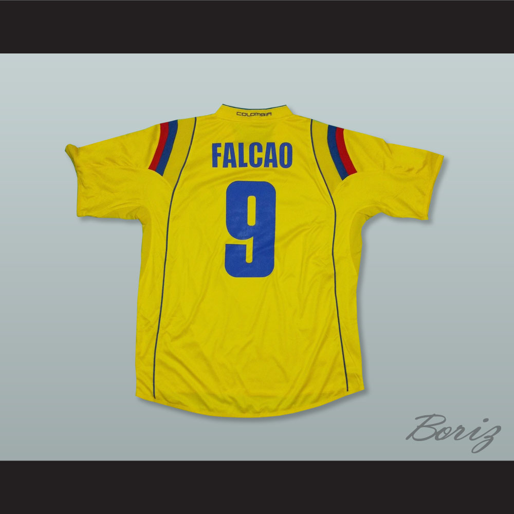half off 69e6b 6b651 Falcao 9 Colombia Home Football Soccer Shirt Jersey