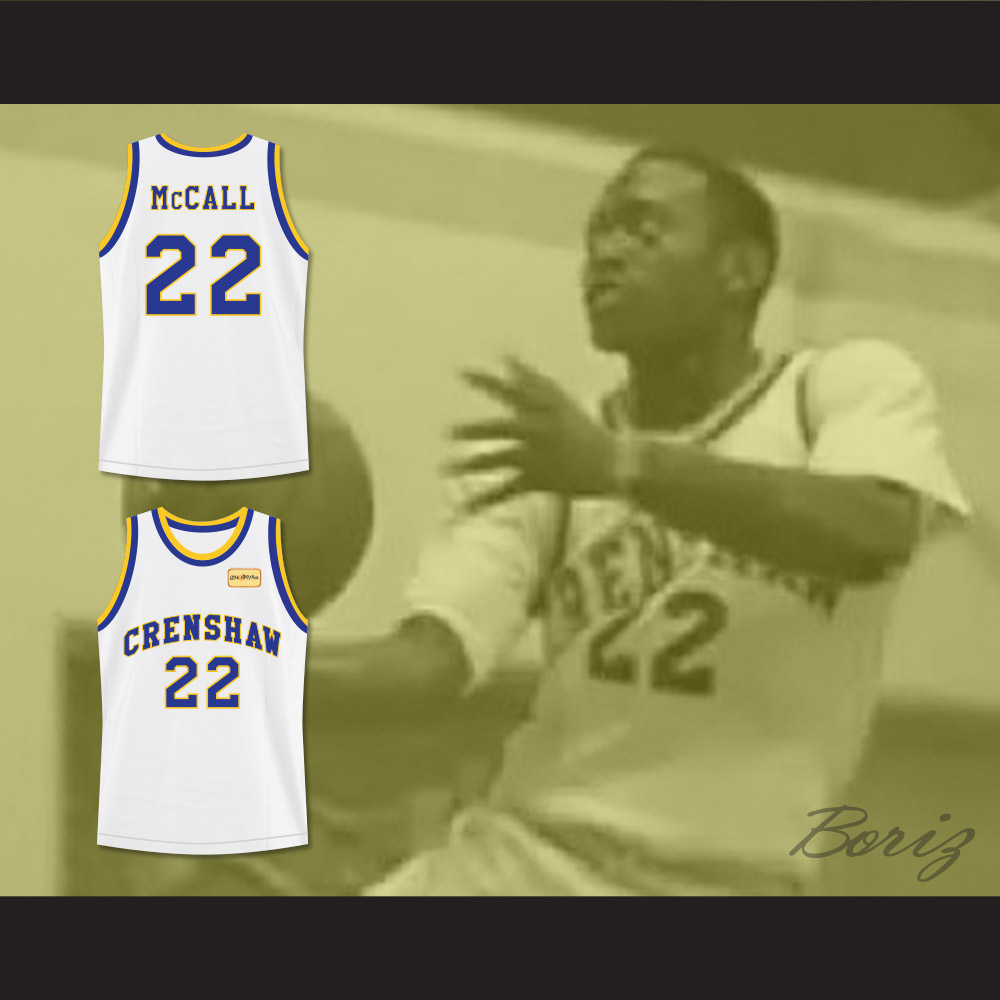 4f7492bd588 Quincy McCall 22 Crenshaw High School Basketball Jersey with Love ...