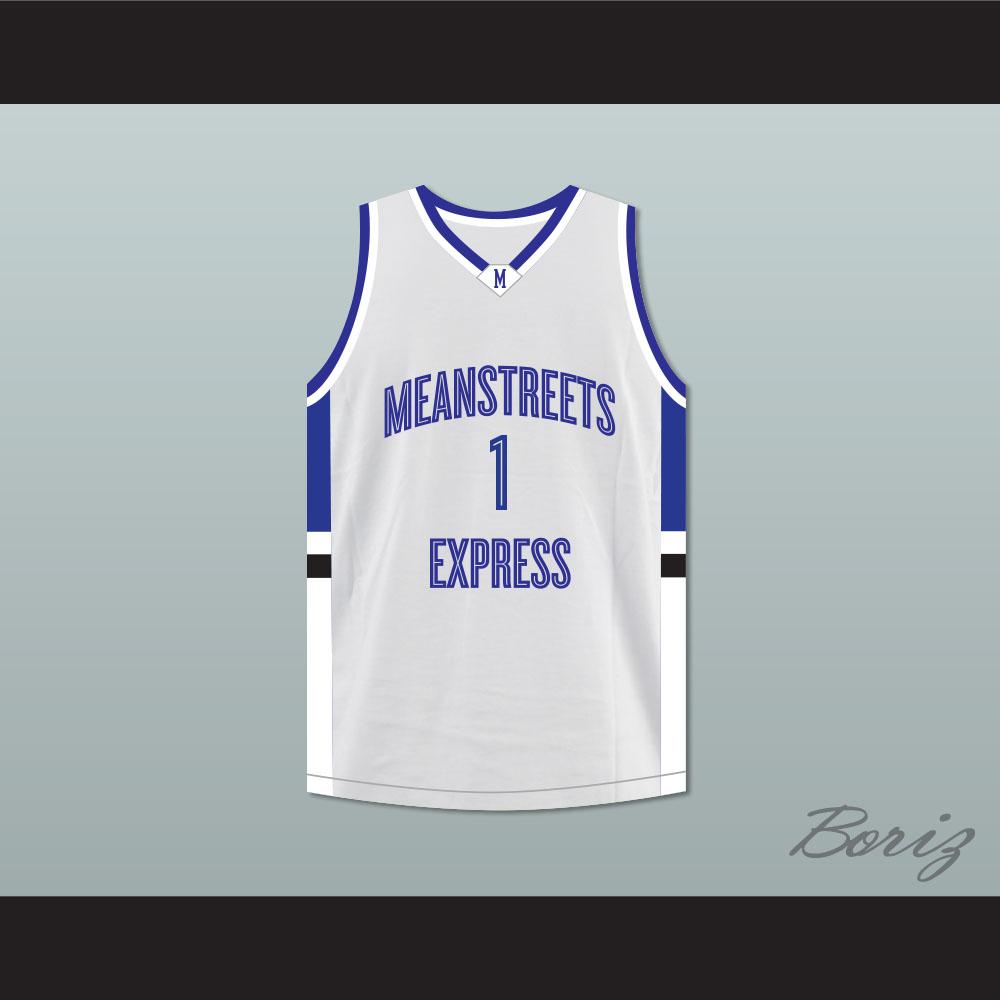 pretty nice 4cb12 12a37 Derrick Rose 1 Mean Streets Express Basketball Jersey