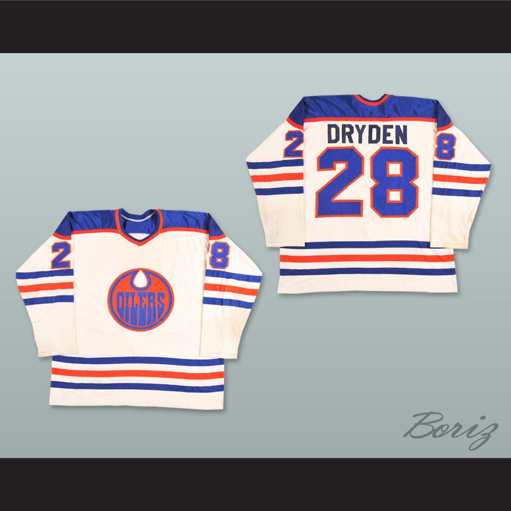 finest selection 5965e ff280 WHA 1978-79 Edmonton Oilers Dave Dryden 28 Home Hockey Jersey