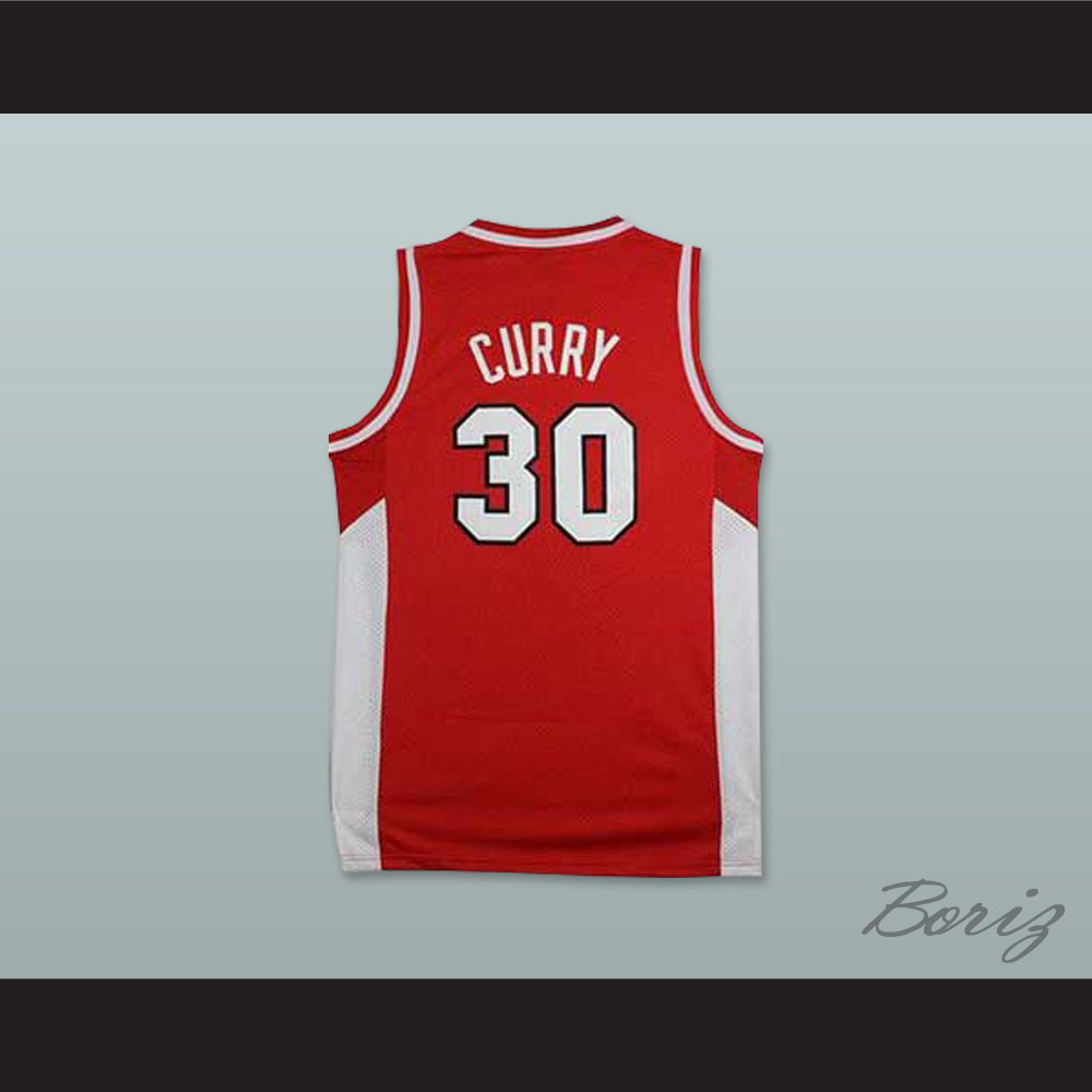 quality design 57874 ba5a1 Stephen Curry 30 Davidson College Wildcats Red Basketball Jersey