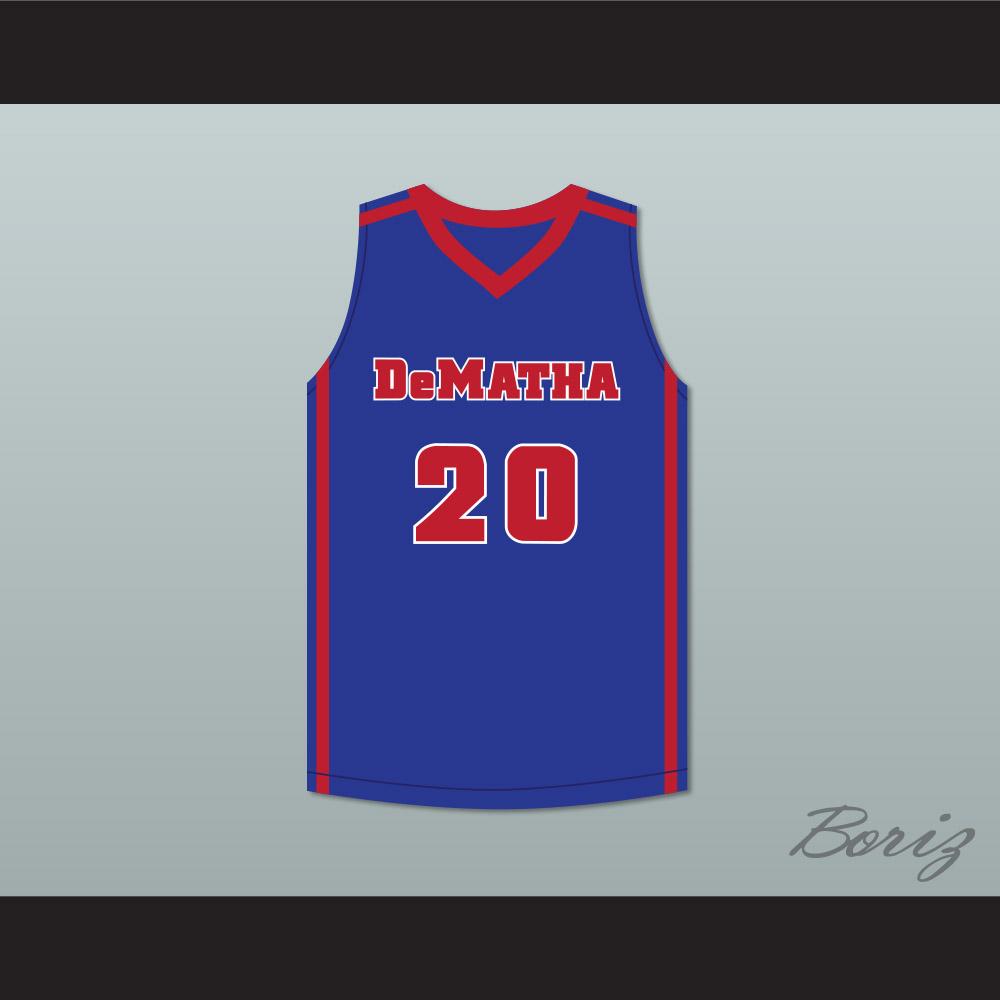 Markelle Fultz 20 DeMatha Stags Blue Basketball Jersey
