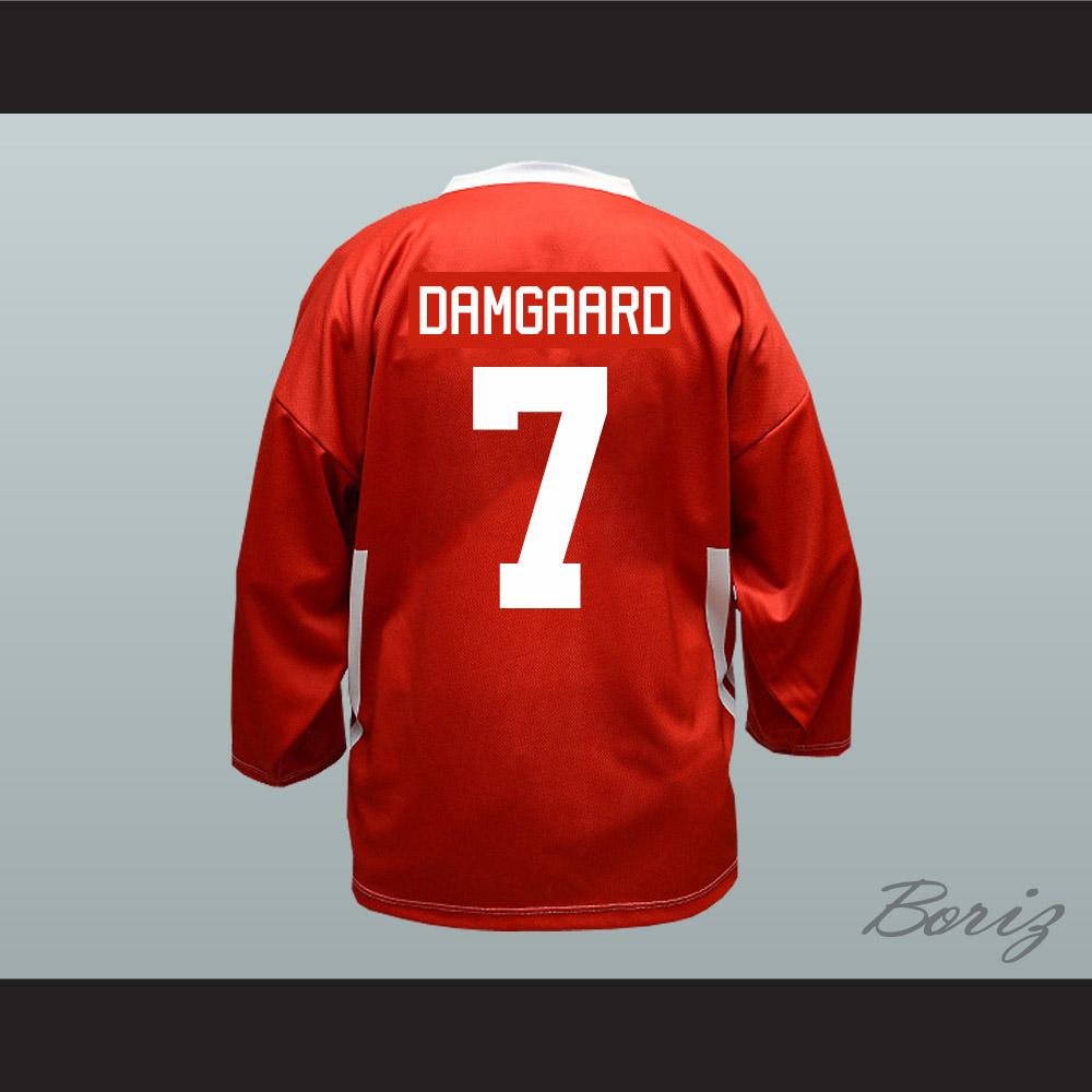 separation shoes afe7a b620e Denmark National Team Jesper Damgaard Hockey Jersey Red