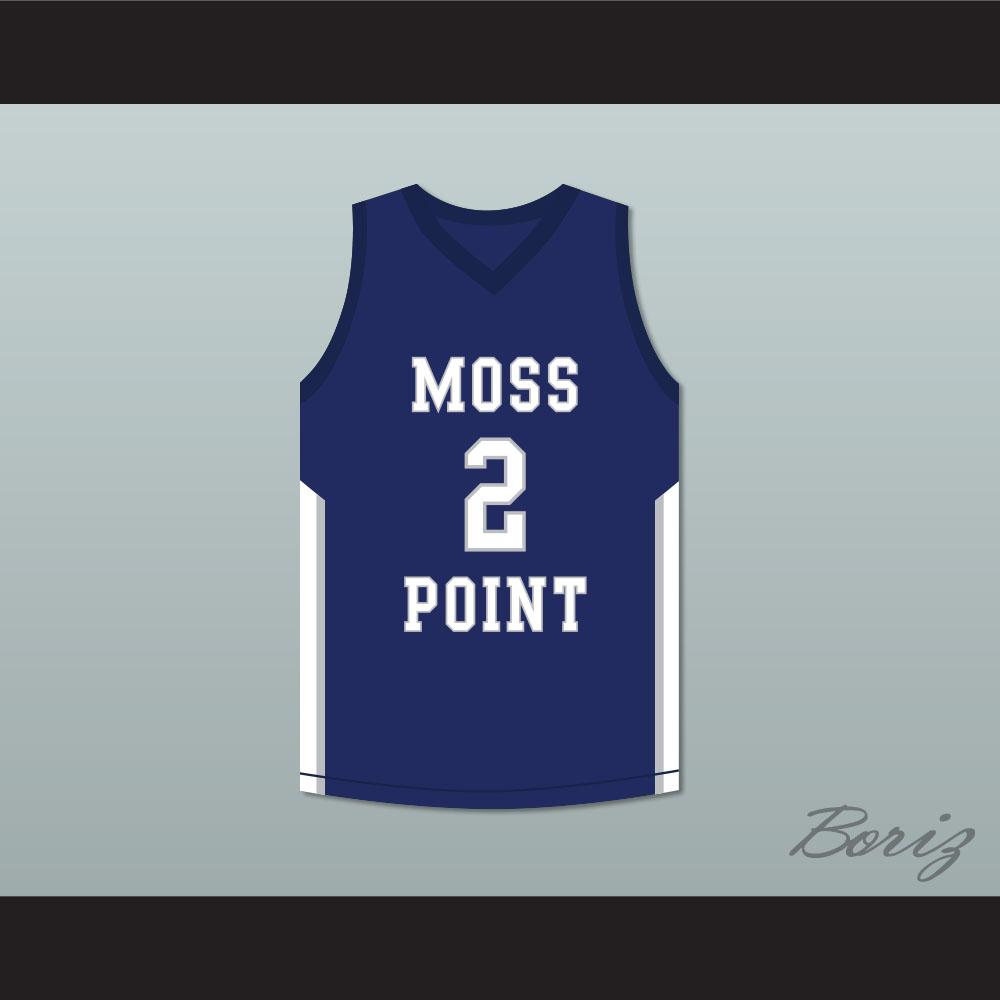 sale retailer f5648 a289c Devin Booker 2 Moss Point High School Blue Basketball Jersey