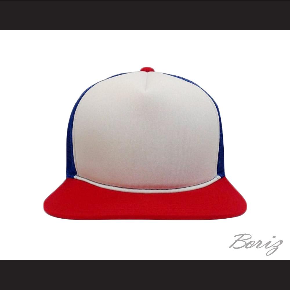 Dustin Henderson Stranger Things Red White Blue Trucker Mesh Baseball Hat