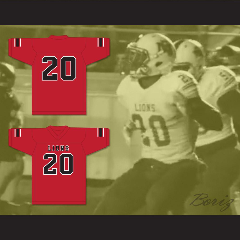 pretty nice 044a9 eafc2 CJ Reavis 20 EMCC Lions Red Football Jersey