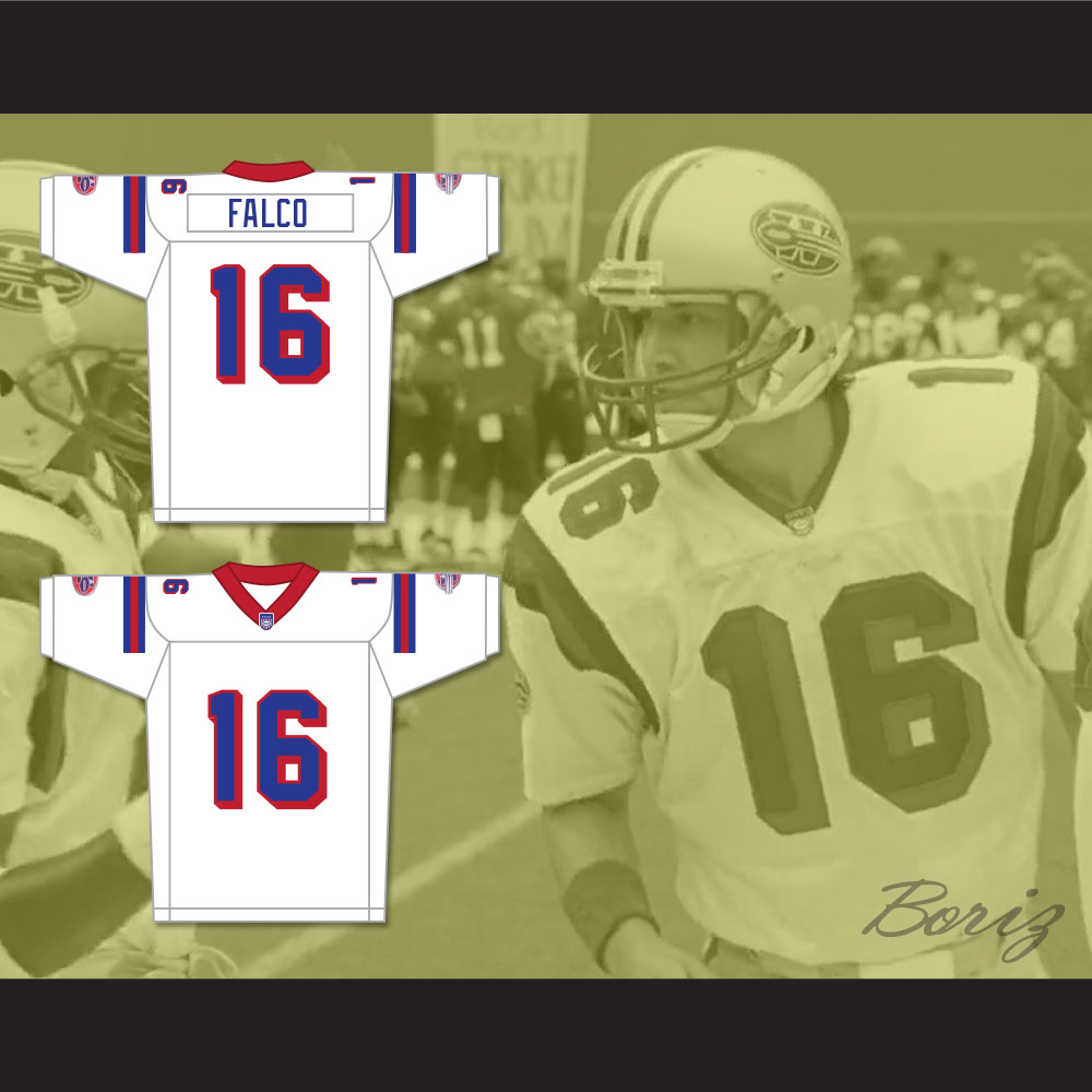 077fb4ac143 Keanu Reeves Shane Falco 16 Washington Sentinels Away Football Jersey The  Replacements Includes League Patch