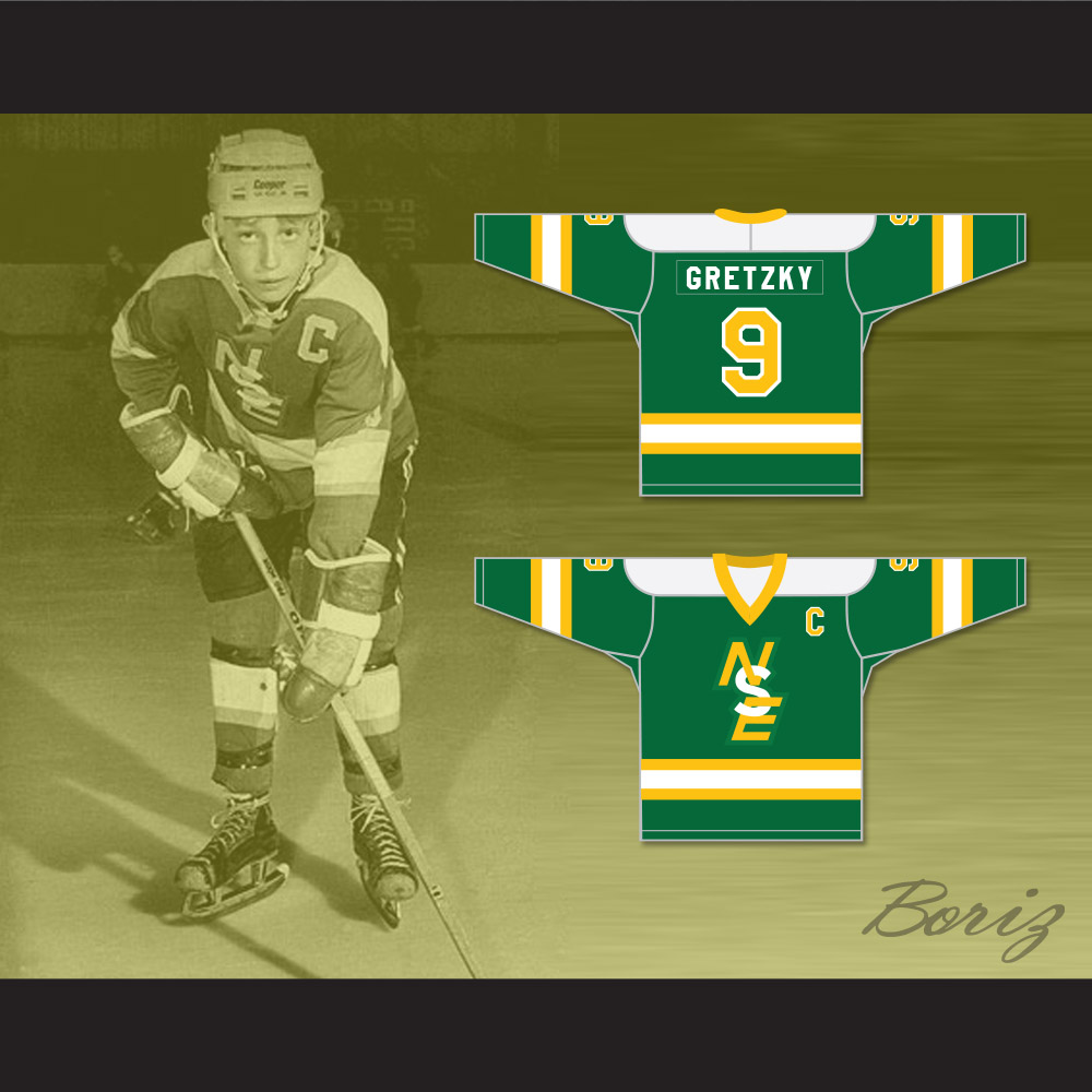 meet b520d e3138 Wayne Gretzky 9 Brantford Nadrofsky Steelers Green Hockey Jersey Youth  League