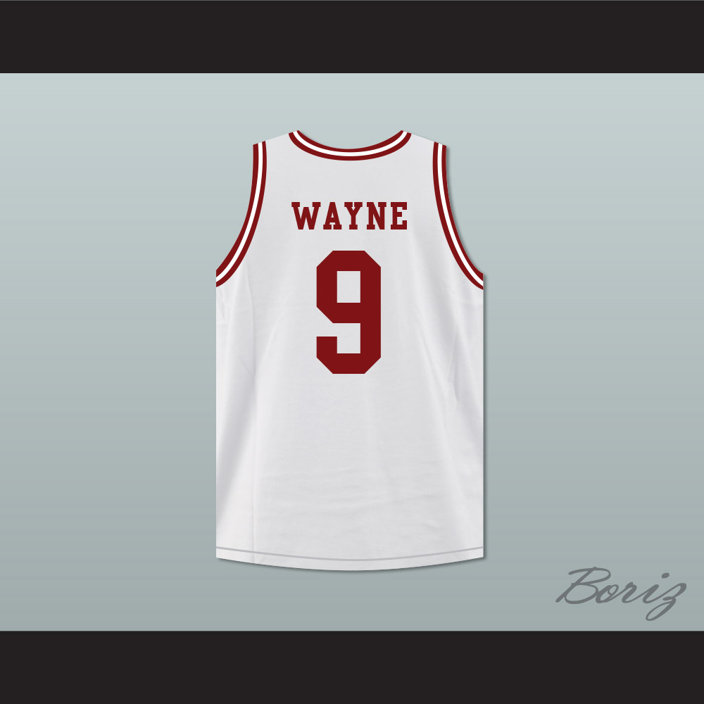 3085126c8c6 Dwayne Wayne 9 Hillman College White Basketball Jersey Deluxe A ...
