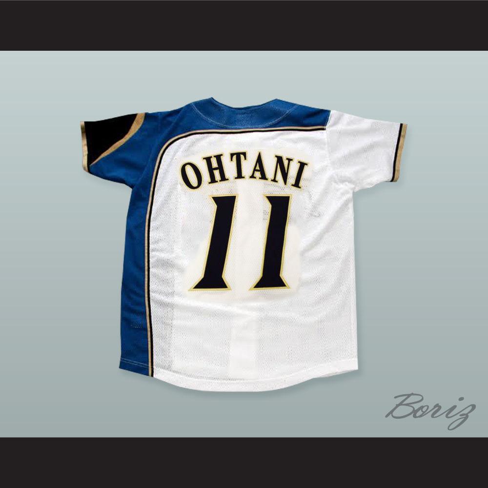 best cheap 90a41 ae337 Shohei Otani 11 Hokkaido Nippon-Ham Fighters Button Down White Baseball  Jersey with Patch