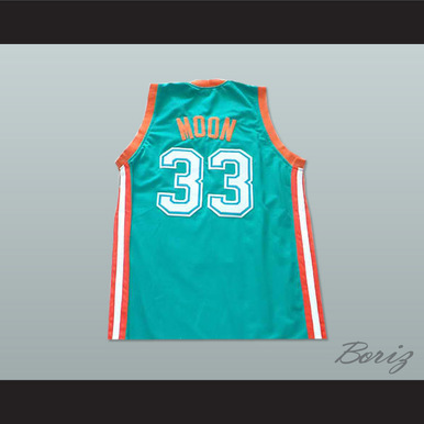 979e64bc8d1 JACKIE MOON 33 FLINT TROPICS BASKETBALL JERSEY SEMI-PRO TEAM TEAL