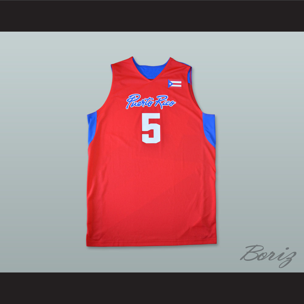 cheap for discount f8168 9a722 J.J. Barea 5 Puerto Rico Basketball Jersey