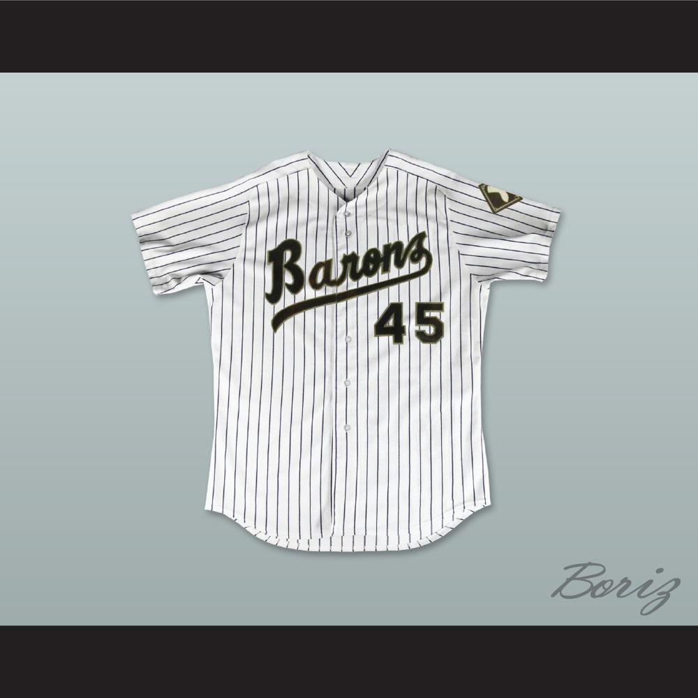 the best attitude aae8a 85a94 Michael Jordan 45 Birmingham Barons Pinstriped Baseball Jersey