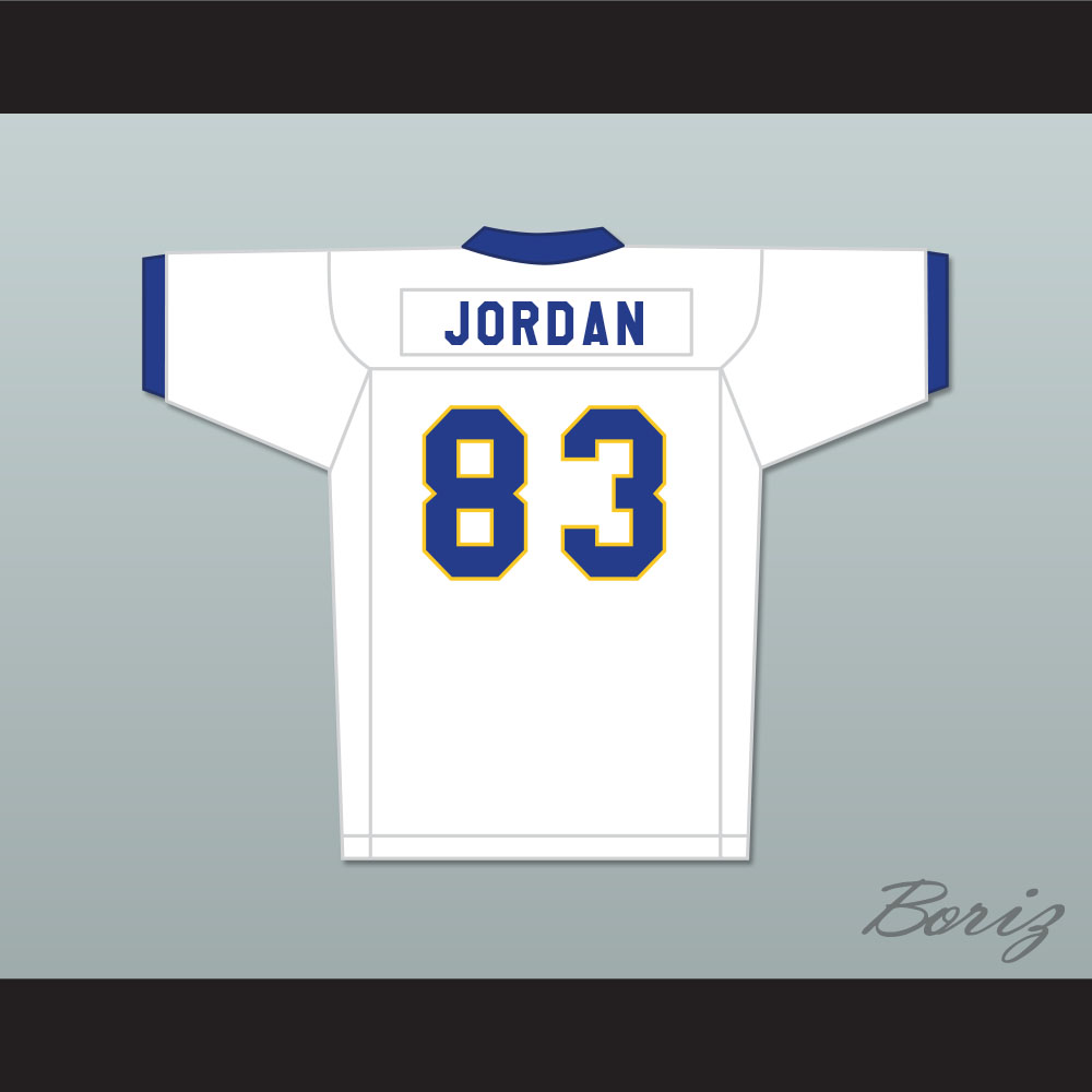 sports shoes 4c864 f079f Michael Jordan 83 Laney High School Buccaneers White Football Jersey