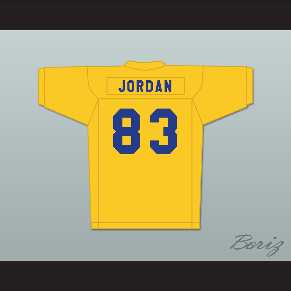 cheap for discount 0a00f 92e26 Michael Jordan 83 Laney High School Buccaneers Yellow Football Jersey