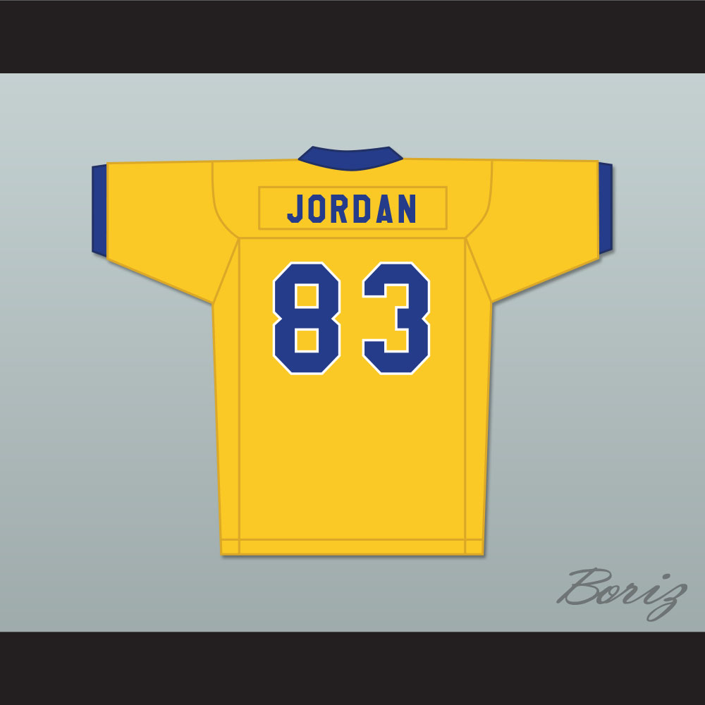 innovative design 1684e b8873 Michael Jordan 83 Laney High School Buccaneers Yellow Football Jersey 2