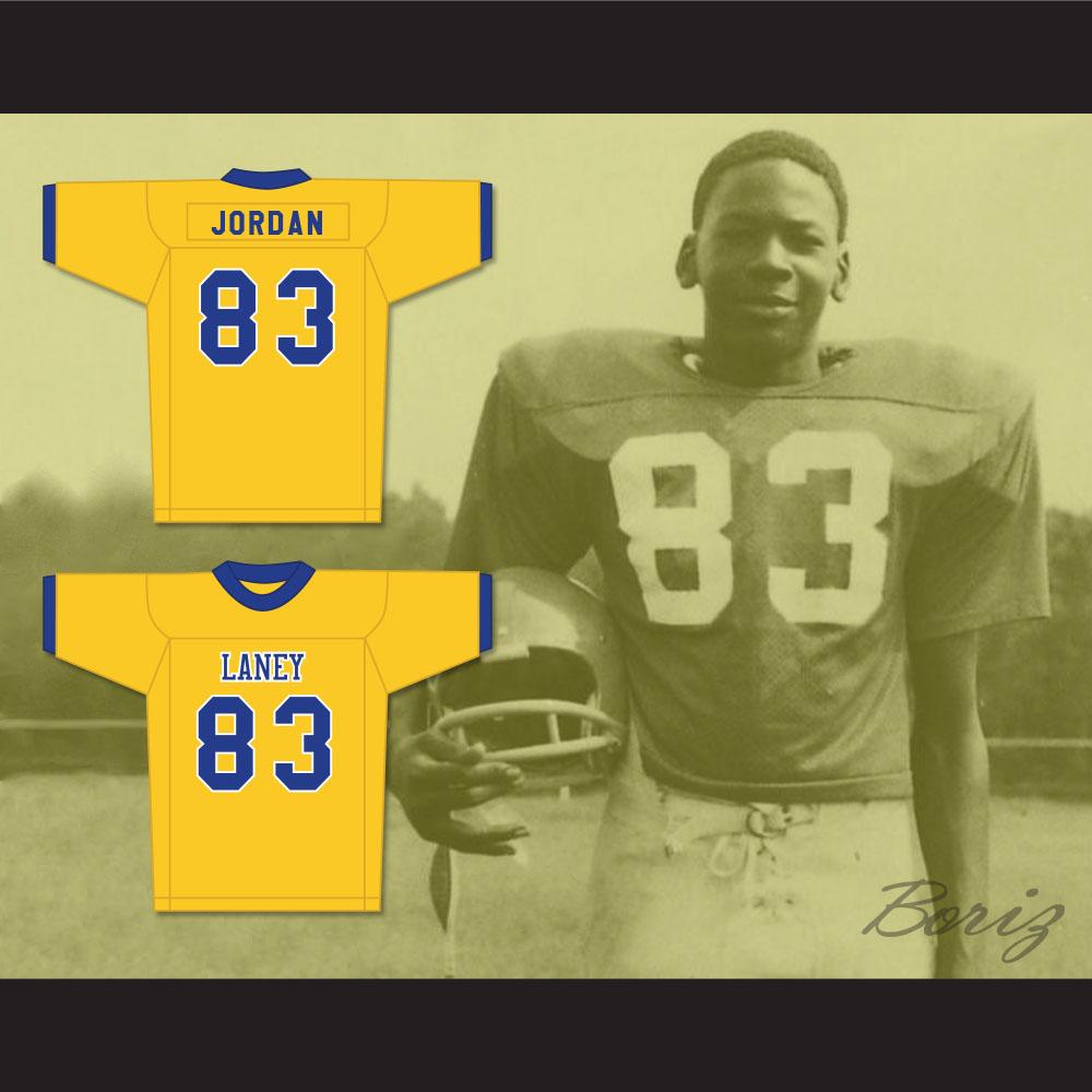 8fbbd276ec5 Michael Jordan 83 Laney High School Buccaneers Yellow Football Jersey 2
