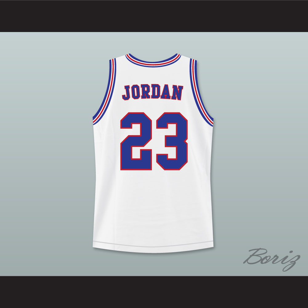 91cba8a26022a8 Michael Jordan 23 Tune Squad Basketball Jersey Includes Space Jam Patch