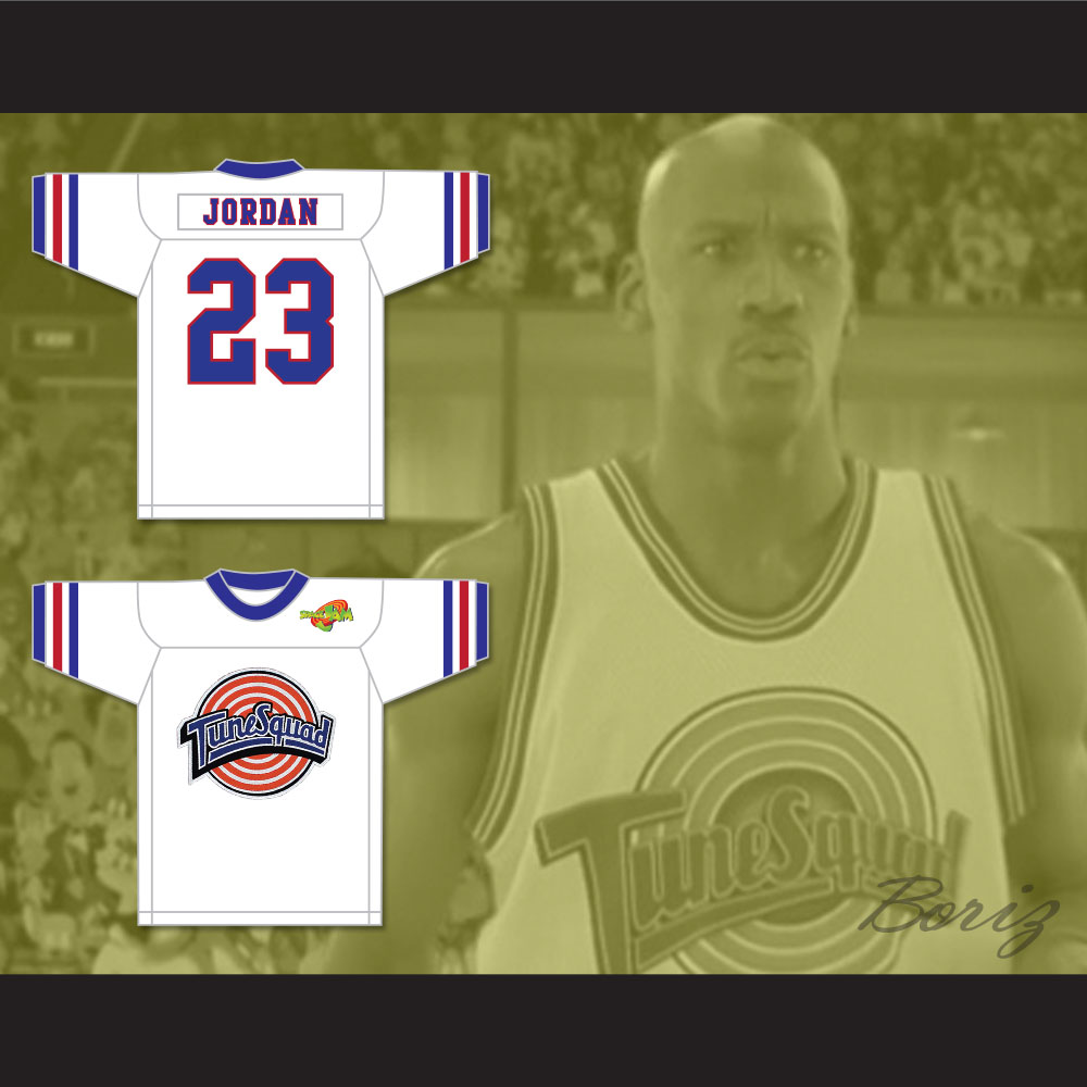 buy online 13291 7614a Michael Jordan 23 Tune Squad Football Jersey with Space Jam Patch