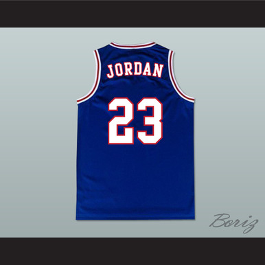 huge selection of 2a8e6 6a643 MICHAEL JORDAN SPACE JAM TUNE SQUAD BASKETBALL JERSEY BLUE