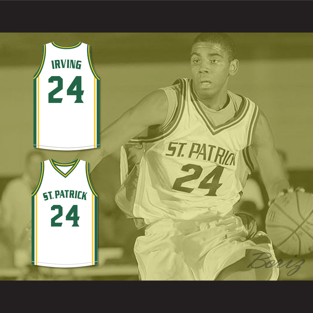 premium selection 5ee5d 8ed64 Kyrie Irving 24 St. Patrick High School White Basketball Jersey