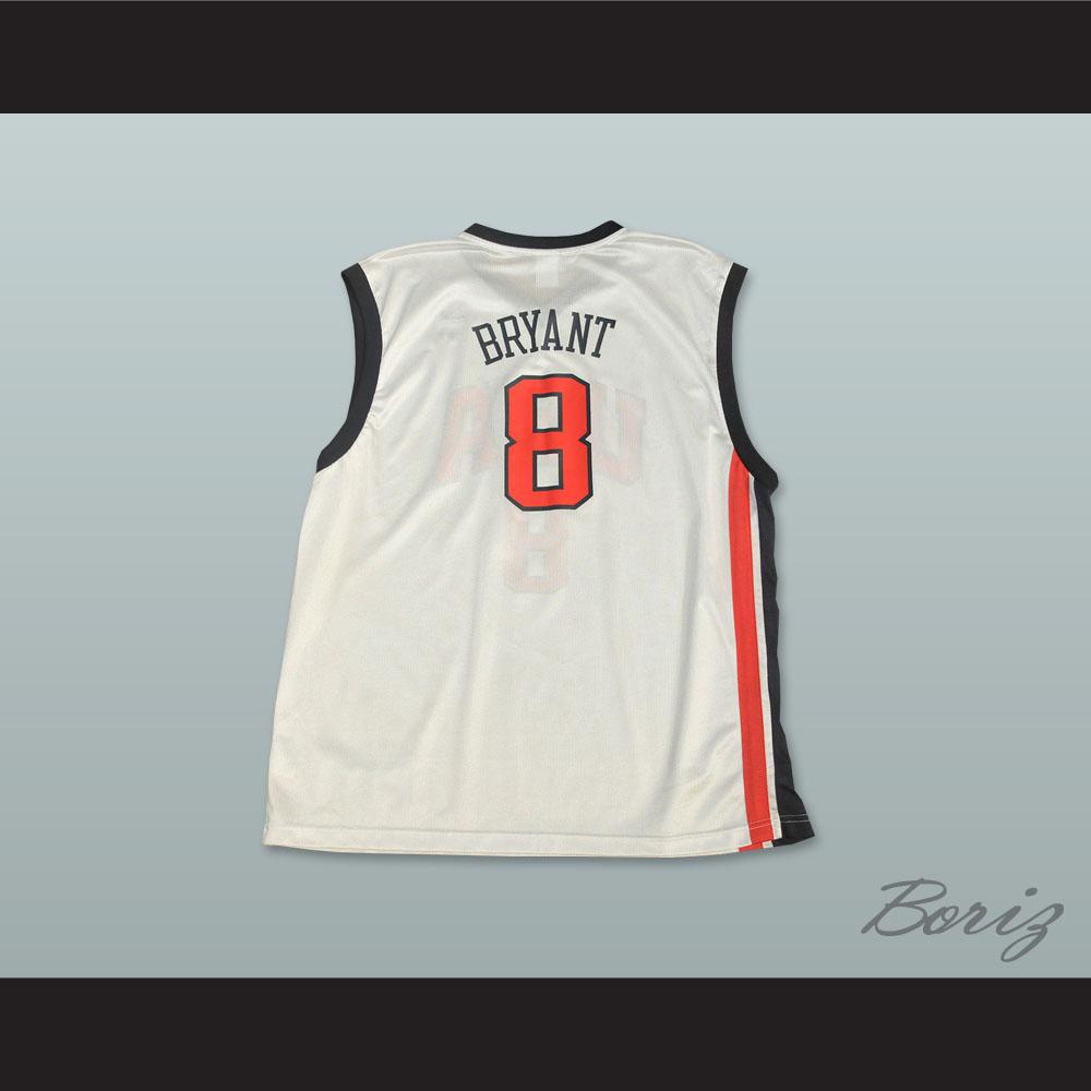 buy online 30797 40ace Kobe Bryant 8 Team USA White Basketball Jersey