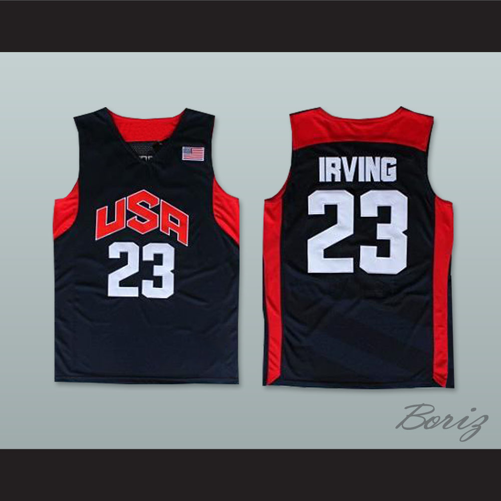 new products c498f 3b50d Kyrie Irving 23 Team USA Basketball Jersey