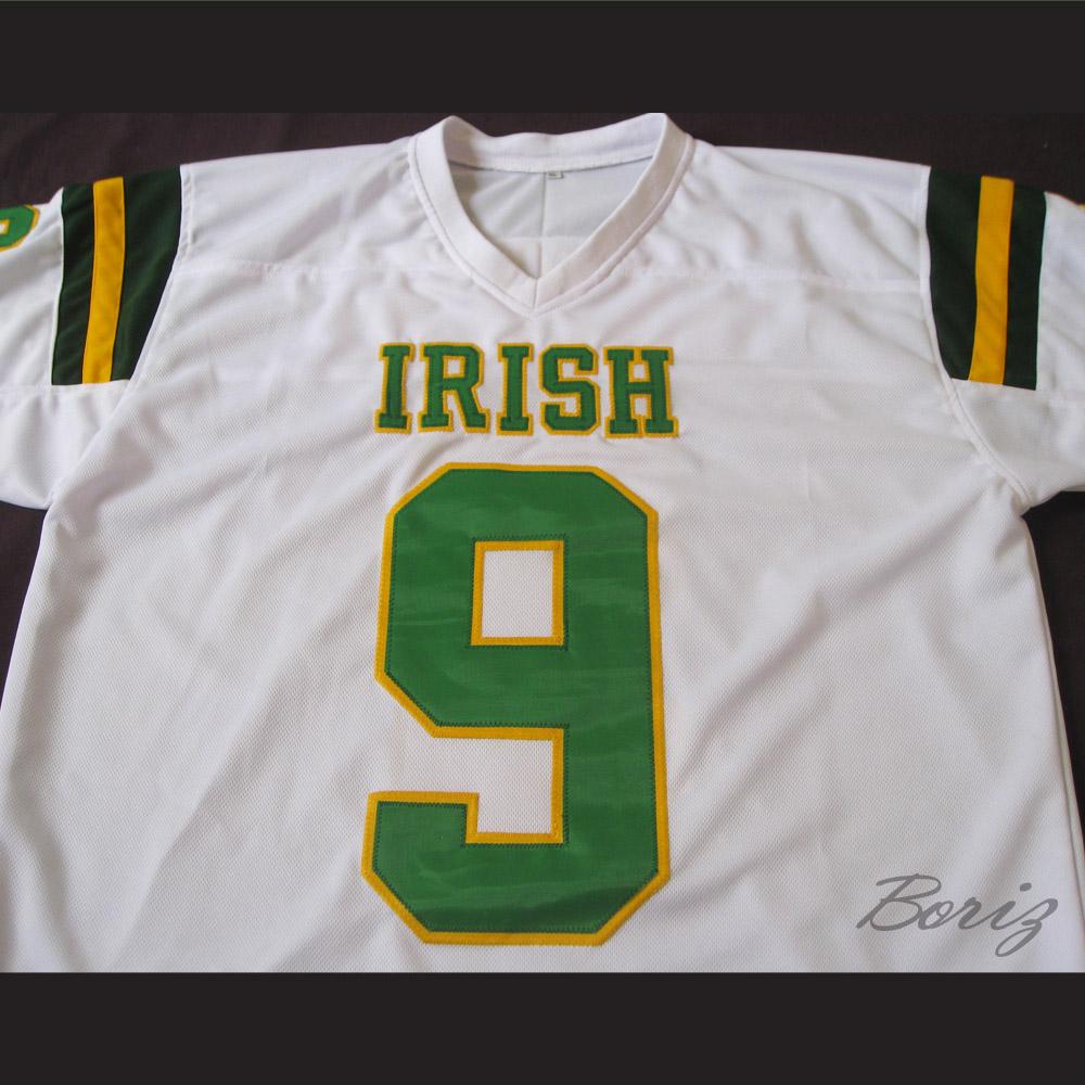 1f9b46ed0 ... france lebron james 9 fighting irish high school football jersey white  61f46 09a15