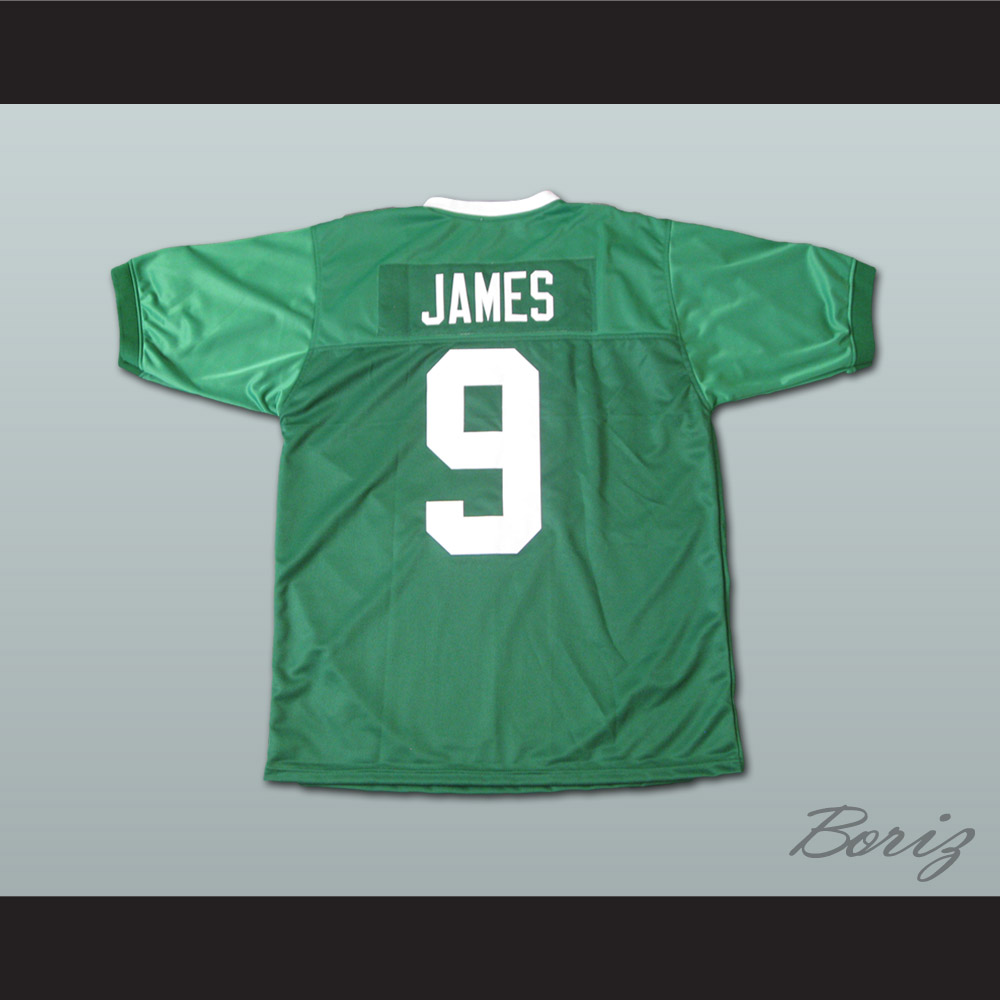 more photos c742b b3ed2 Lebron James 9 Fighting Irish High School Football Jersey Green