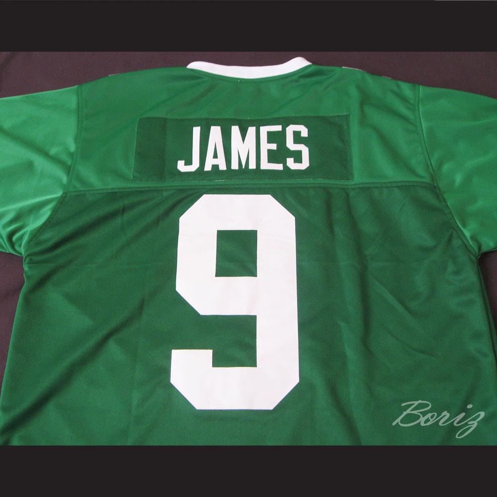 more photos 6cc85 11942 Lebron James 9 Fighting Irish High School Football Jersey Green