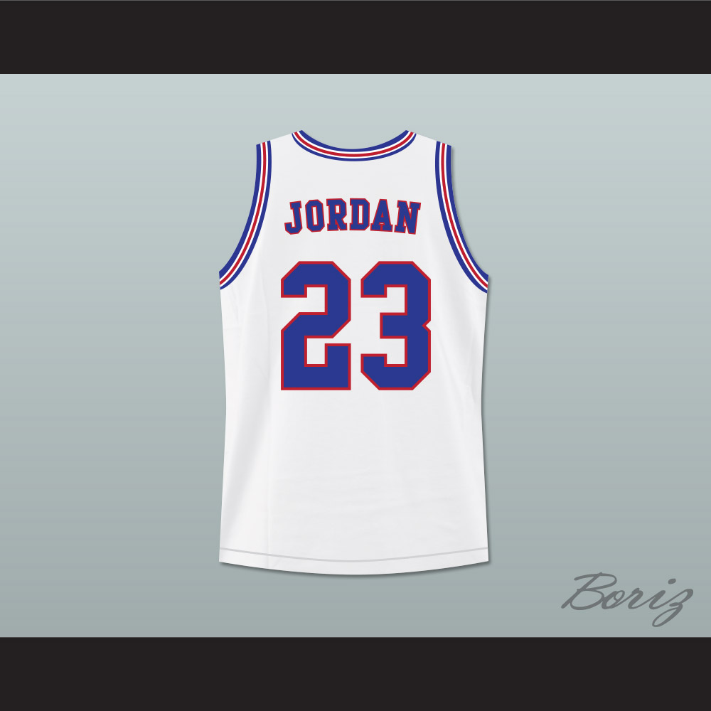 new style 017e3 2b58e Michael Jordan 23 Like Mike White Mash Up Basketball Jersey