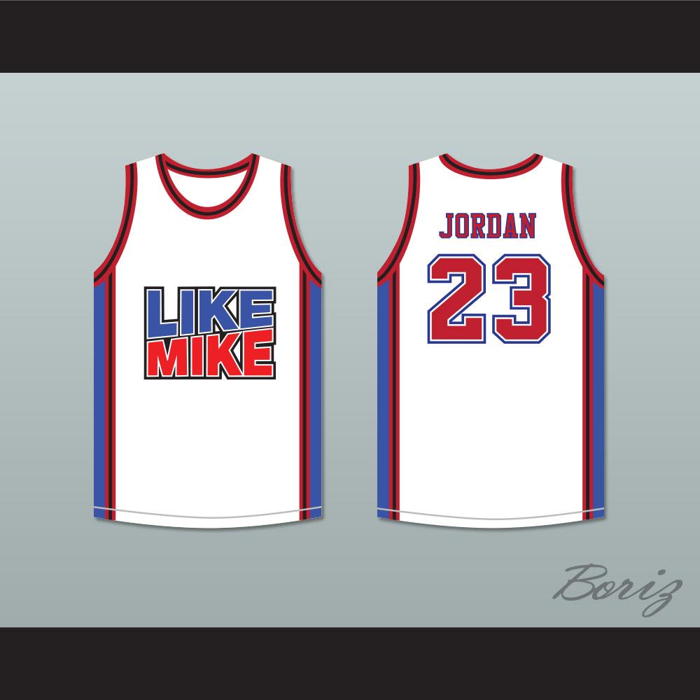 promo code e7185 b8f52 Michael Jordan 23 Like Mike White Basketball Jersey