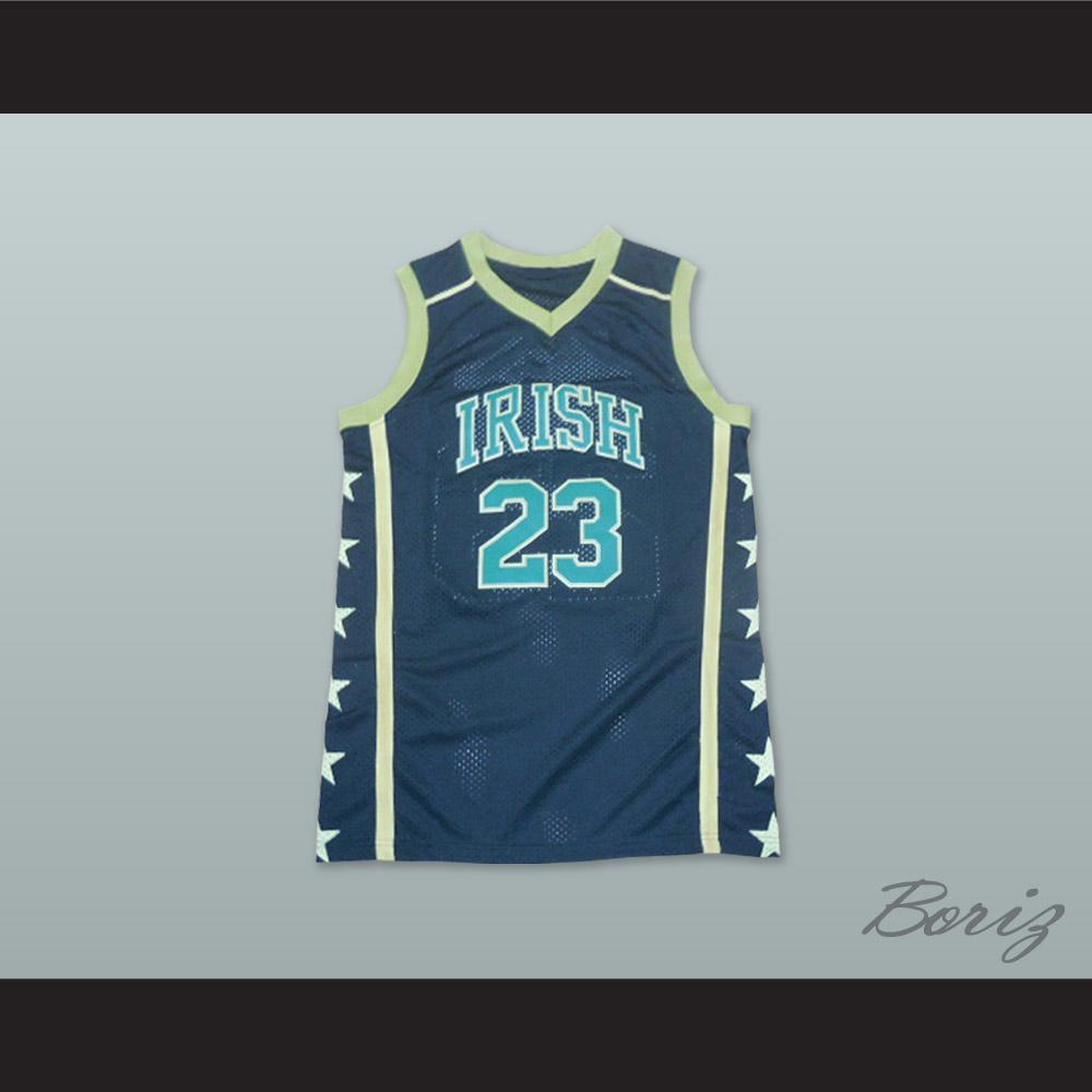 on sale c06f7 d8f9b Lebron James 23 Fighting Irish High School Black Basketball Jersey