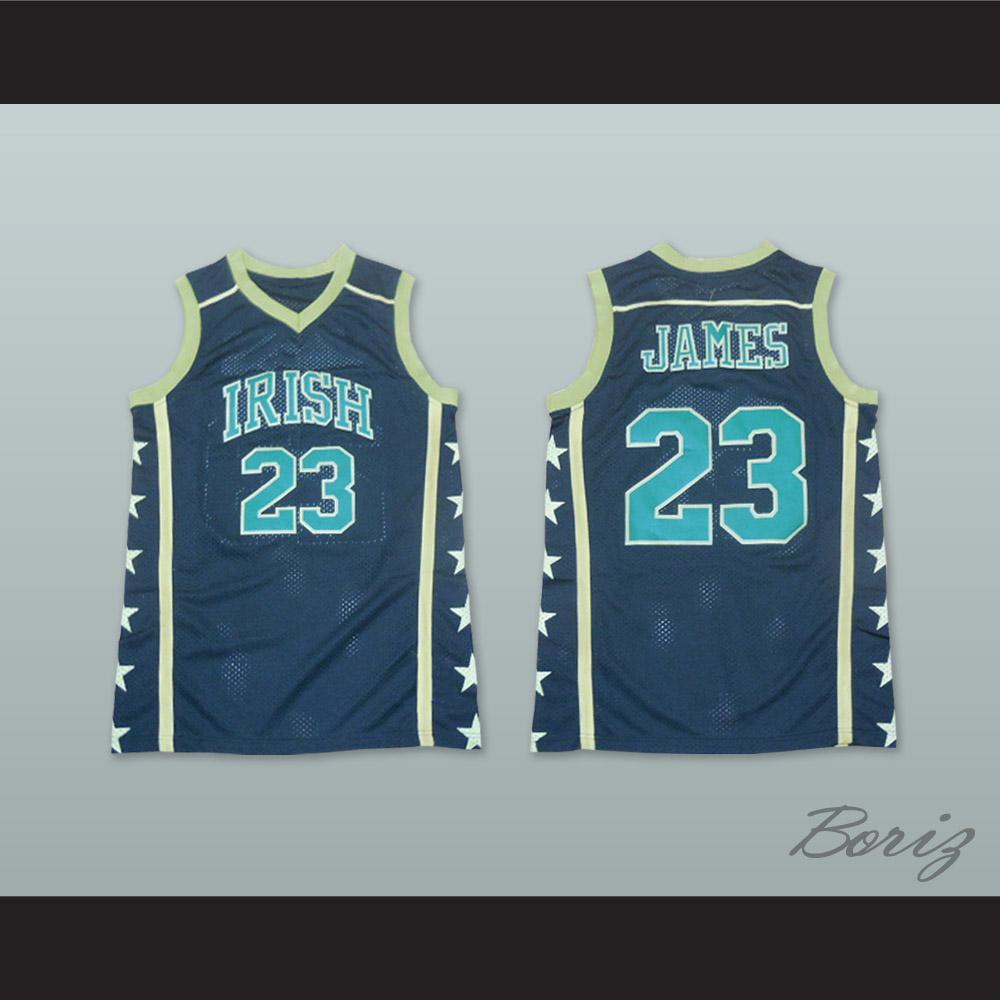 on sale ed7a0 364ae Lebron James 23 Fighting Irish High School Black Basketball Jersey