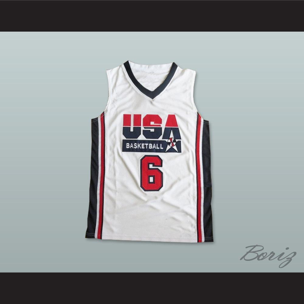 brand new 455b6 7f6cd Lebron James 6 Team USA Basketball Jersey