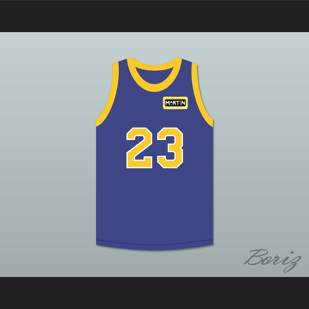 28f464b2d6c Martin Payne 23 Blue Basketball Jersey with Martin Patch