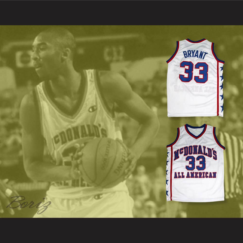 22923a745f24 Kobe Bryant 33 McDonald s All American White Basketball Jersey
